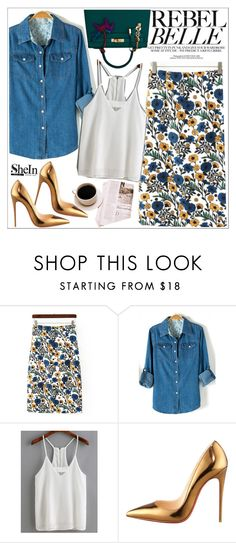"""""""Shein"""" by teoecar ❤ liked on Polyvore featuring Christian Louboutin, Hermès, women's clothing, women's fashion, women, female, woman, misses and juniors"""