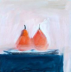 stilllifequickheart: John Houston Two Pears Late 20th - early 21st century