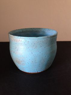 SALE small bowl in turquoise / light blue matte by ThronePottery, $6.00