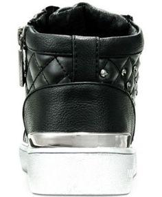 Michael Kors Ivy Rome High-Top Sneakers, Little Girls (11-3) & Big Girls (3.5-7) - Black 11