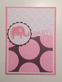 Stampin Up, One in a Million, Patterned Occasions, Inside: Congrats, Congratulations on the birth of your beautiful Baby