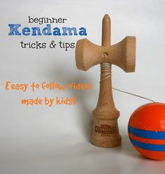 5 videos with beginner Kendama tricks. Great tips and trick tutorials made by kids for kids. (Plus where to purchase a Kendama).