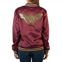 Wonder Woman Bomber Jacket And Lasso Of Truth Purse
