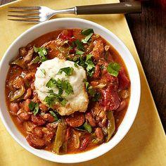 Cajun Chicken, Kielbasa and Dumplings - FamilyCircle.com