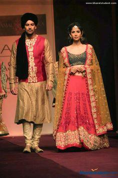 Sherwani and Lengha by Shyamal & Bhumika at Lakme Fashion Week Winter / Festive 2013