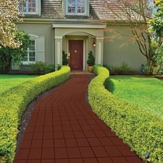 Imperial Home Faux Brick Patio Walkway Paver (Set of Color: Mocha Brown Landscaping Supplies, Modern Landscaping, Front Yard Landscaping, Landscaping With Rocks, Landscaping Ideas, Backyard Ideas, Patio Ideas, Mulch Ideas, Landscaping