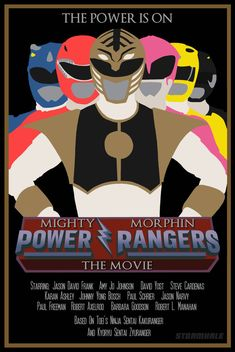 Power Rangers Poster 022 - MMPR The Movie by Stormhale on DeviantArt