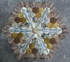 Faeries and Fibres: A finished pilchard wheel and the next block