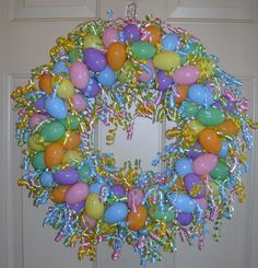 Easter Egg Wreath I made this year.