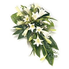 Order sympathy flowers - Fineflora offers a large range of flowers and floral arrangements to send to funeral directors in England, Wales, Scotland, and Northern Ireland (UK and Great Britain) Arrangements Funéraires, Funeral Floral Arrangements, Church Flowers, Funeral Flowers, Wedding Flowers, Funeral Bouquet, Deco Floral, Arte Floral, Casket Flowers