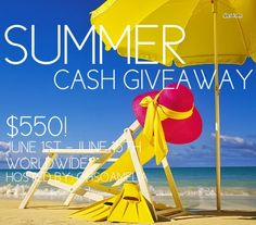 Summer Cash Giveaway $550 www.somuchbetterwithage.com #giveaway #contest #cash #blogs