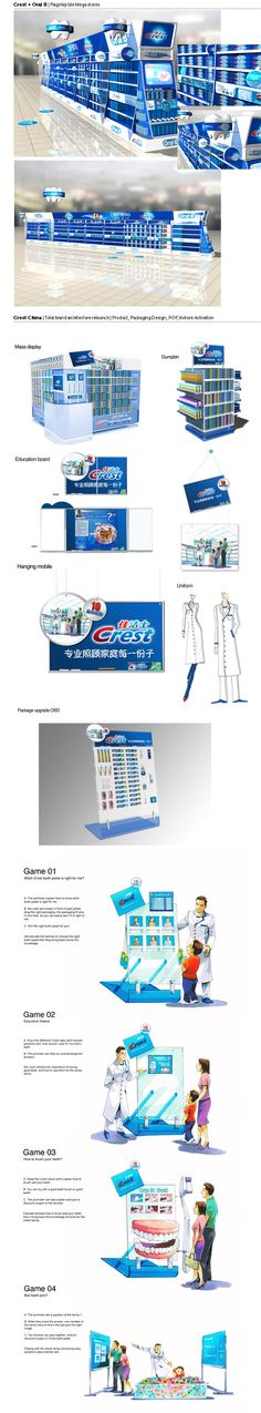 Point of Sale | Health  Beauty Point of Purchase Design | POP | POSM | POS | POP |PG Crest + Oral B - New Brand Product Architecture by Gaël Dubé, via Behance
