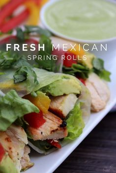 Fresh Mexican Spring Rolls Recipe