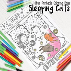 This one had to happen sooner or later and it certainly won't be the last cat one! I am a total cat person so I'm excited to share this Sleeping cats coloring page for adults and kids with you all! So be like a kitty and curl up with a blanked along with this free …