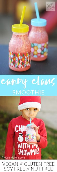 fried dandelions // christmas candy claus smoothie