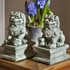 You'll love the 2 Piece Temple Foo Dog Statue Set at Wayfair - Great Deals on all Outdoor  products with Free Shipping on most stuff, even the big stuff.