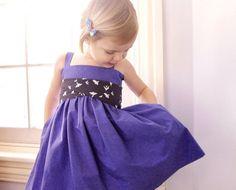 Periwinkle Lark Toddler Dress  Purple Toddler Dress by sneakypea, $64.00