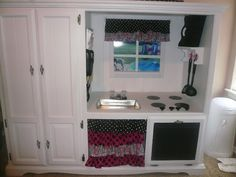 Play Kitchen From Entertainment Center   Play kitchen from entertainment center. So Cute!