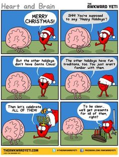 What are the #holidays all about? | Read The Awkward Yeti #comics @ www.gocomics.com/the-awkward-yeti/2014/12/21?utm_source=pinterest&utm_medium=socialmarketing&utm_campaign=social-pin | #GoComics #webcomic