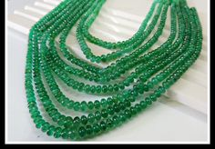 462.14 Cts. Eight  Strands Natural Top Zambian Green Emerald Necklace Certified #SAMJEWEL #8StrandString