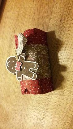 Stampin up Kleine Box Envelope punch board  Ausgestochen weihnachtlich