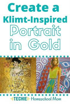 """Learn more about Art Nouveau painter Gustav Klimt's """"Portrait of Adele Boch Bauer"""" with this homeschool art lesson. Includes discussion questions for the movie """"Woman in Gold"""" and a Klimt-inspired art project. Chinese New Year Activities, New Years Activities, Activities For Kids, Spring Activities, Art Klimt, Gustav Klimt, Woman In Gold, Art Curriculum, Teaching Art"""