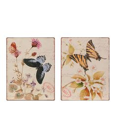 Take a look at this Butterfly Metal Wall Art Set by Color Trends: Pops of Pink on #zulily today!