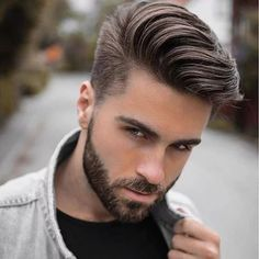 Cool hairstyles for men, Pompadour hairstyle, Mens hairstyles Comb over haircut, Thick hair styles, Mens hairstyles pompadour - 13 Men's Hair Trends That Aren't The Fade Hairstyles & Haircuts f - Mens Hairstyles Pompadour, Mens Hairstyles 2018, Side Part Hairstyles, Cool Hairstyles For Men, Undercut Hairstyles, Hairstyles Haircuts, Men Undercut, Hairstyle Ideas, Latest Hairstyles