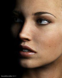 Close Up portrait 3D render