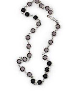 """Onyx Rain- 32"""" Black and grey beads with silver accents in this necklace are a simple, yet beautiful way to shower your look with a touch of class as a necklace, bracelet or belt. $31 #onyxrain #yourstylemialisia"""