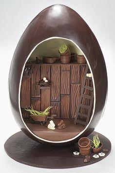 LimburgActueel.be thema pasen, chocolade ei van 40kg chocolade, €2800