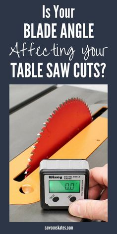 Did you know if your table saw blade is off just a small amount like a degree or two that it can affect the quality of your cuts? This means your DIY projects may not fit together as well as they could. A simple trick is to set your blade with a digital angle gauge. It's easy, precise, eliminates guesswork and ensures precision cuts every time. #diy #diytips #tablesaw #woodworkingtools #woodworkingtips