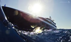 Photo of the week: A unique view of Excellence V, shot off the coast of Cannes. Photo By Jeff Brown