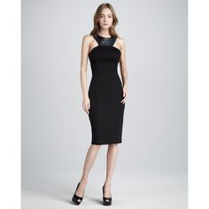 Women's Sachin + Babi Keeley Leather-Accent Dress ($350) found at NeimanMarcus