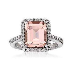 Morganite and Diamond Ring. Fit for a member of the royal family. Click this ring to find similar Morganite jewelry. I Love Jewelry, Diamond Are A Girls Best Friend, Beautiful Rings, Just In Case, Engagement Rings, Wedding Engagement, Morganite Engagement, Morganite Ring, Jewelry Accessories