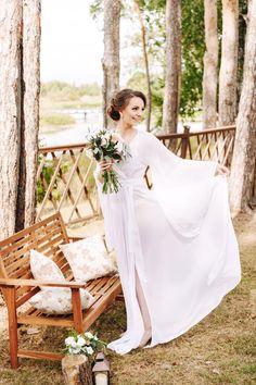 Будуарное платье , утро невесты , халатик , будуарное  утро , Свадьба