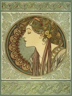 Laurel - Alphonse Mucha (my favorite artist - creator of Art Nouveau movement)