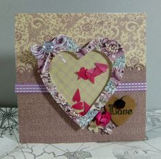 First Edition Mulberry Kisses Heart Shaker card by design team member Katie