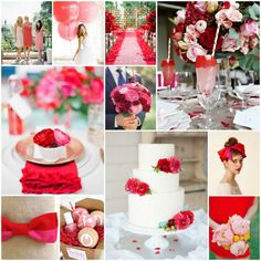 Wedding Color | Red & Pink