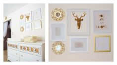 Gold Gallery Wall in the Nursery