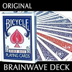 Brain Wave Original - Magic Trick - This is the Brainwave Deck Original in Bicycle backed cards.quick to learn and highly effective. Learn Card Tricks, Learn Magic Tricks, Cool Magic Tricks, Easy Magic, Bicycle Deck, Sleight Of Hand, Bicycle Playing Cards, Brain Waves, Magic Shop