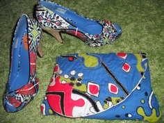 Making a clutch bag to match the shoes you just bought.. It's all about the DIY!    mimi-panda.blogspot.co.uk