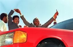 Madiba receives the keys to a red Mercedes, made for him by factory workers. Nelson Mandela, New Africa, South Africa, Nurse Photos, African National Congress, Order Of Canada, Fidel Castro, Mercedes Benz Cars, S Class