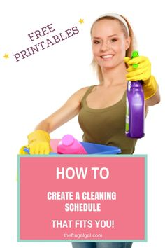 Overwhelemed with a cleaning? Not sure where to start? Here's how to create a cleaning schedule that fits YOU and YOUR lifestyle! Comes with FREE printables!