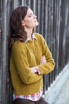 Docklight lace & fisherman's rib pullover by Julie Hoover from Brooklyn Tweed $7.00
