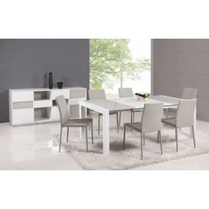 White/ Grey Parson Extendable Dining Table | Overstock.com Shopping - Great Deals on Dining Tables