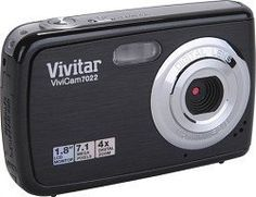 Vivitar 7022 Vivicam 7.1MP Digital Camera with 4X Optical Zoom (Black) by Vivitar. $39.99. The 7MP Vivitar ViviCam 7022 Digital Camera produces bright, sharp photographs up to 13 x 19 and larger. Image-enhancing features found on the ViviCam 7022 include Face Detection, and AntiShake technology for low-light conditions (or places you can't use flash). The camera also features Pictbridge for easy printing and you can shoot HD video with this stylish camera. Features 7.1 Mega...