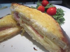 Croque-monsieur Hamburger, French Toast, Bacon, Sandwiches, Food And Drink, Mexican, Dishes, Breakfast, Ethnic Recipes