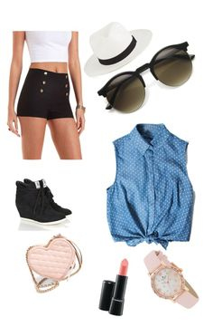 Sweet in Summer by sydneywalker322 on Polyvore featuring polyvore, fashion, style, Charlotte Russe, Rebecca Minkoff, Kate Spade, French Connection, MAC Cosmetics and clothing