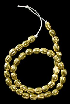 """Ancient Greek-Baktrian Gold Beads  Extremely rare and beautiful! These date from the 1st millennium BC and were part of the famous Bactrian """"Golden Treasure"""" of Afghanistan."""